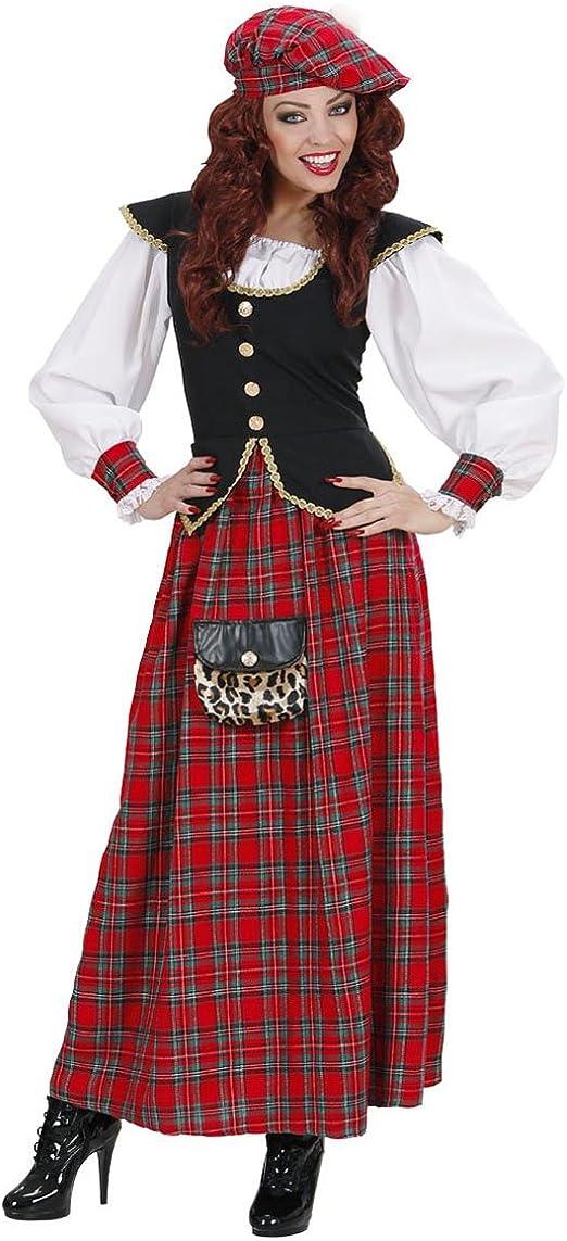 22898 - Vestido escocés para carnaval, disfraz de mujer: Amazon ...