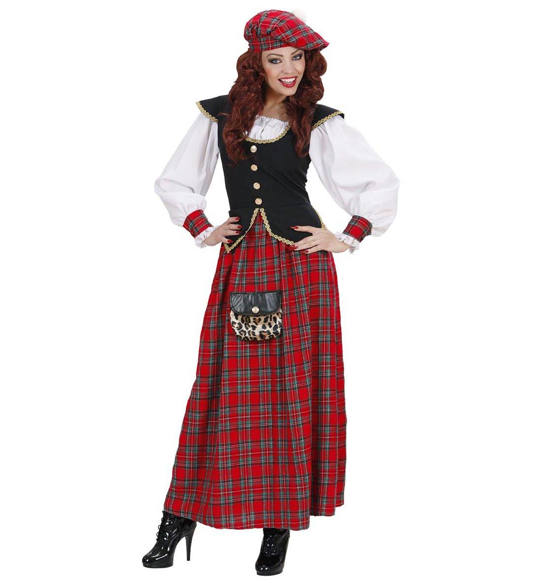 Widmann Kostüm Karneval Damen Kleid Schottenmuster  22898, Mehrfarbig XL
