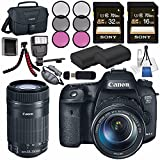 Canon EOS 7D Mark II DSLR Camera 18-135mm STM Lens 9128B016 + Canon EF-S 55-250mm Lens + LPE-6 Lithium Ion Battery + Sony 16GB SDHC Card + Sony 32GB SDHC Card + Flexible Tripod + Flash Bundle