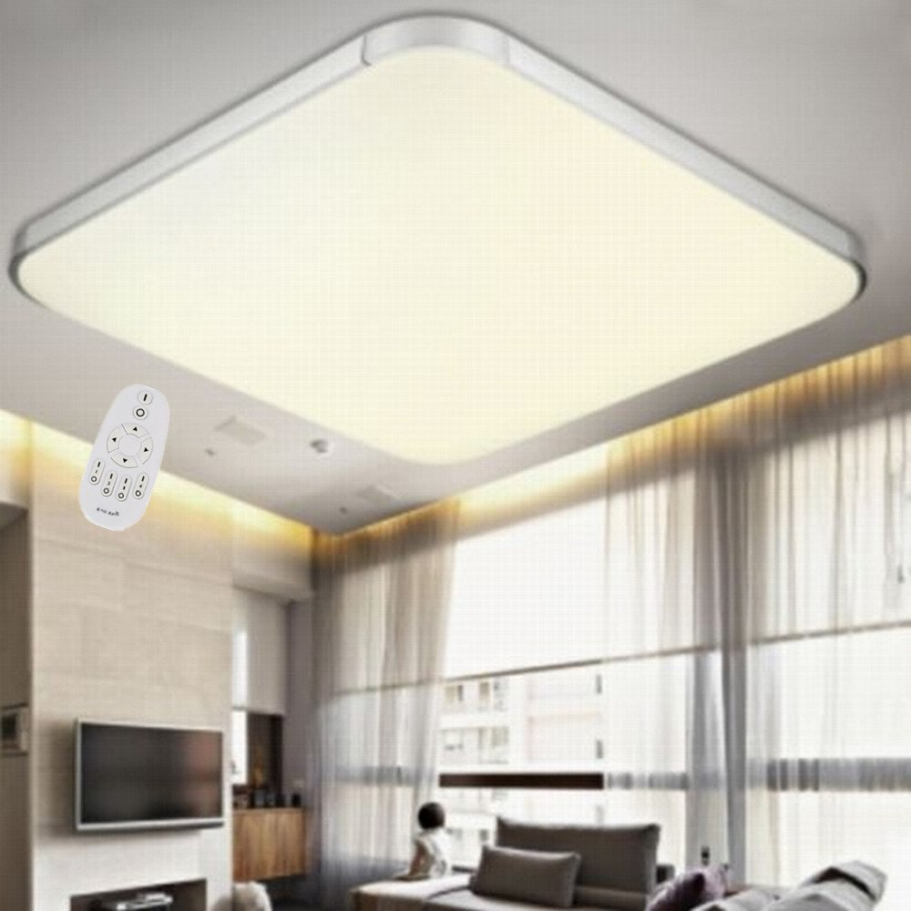 lampe wohnzimmer anschlieben : Mctech 36w Dimmbar Led Deckenleuchte Modern Deckenlampe Flur