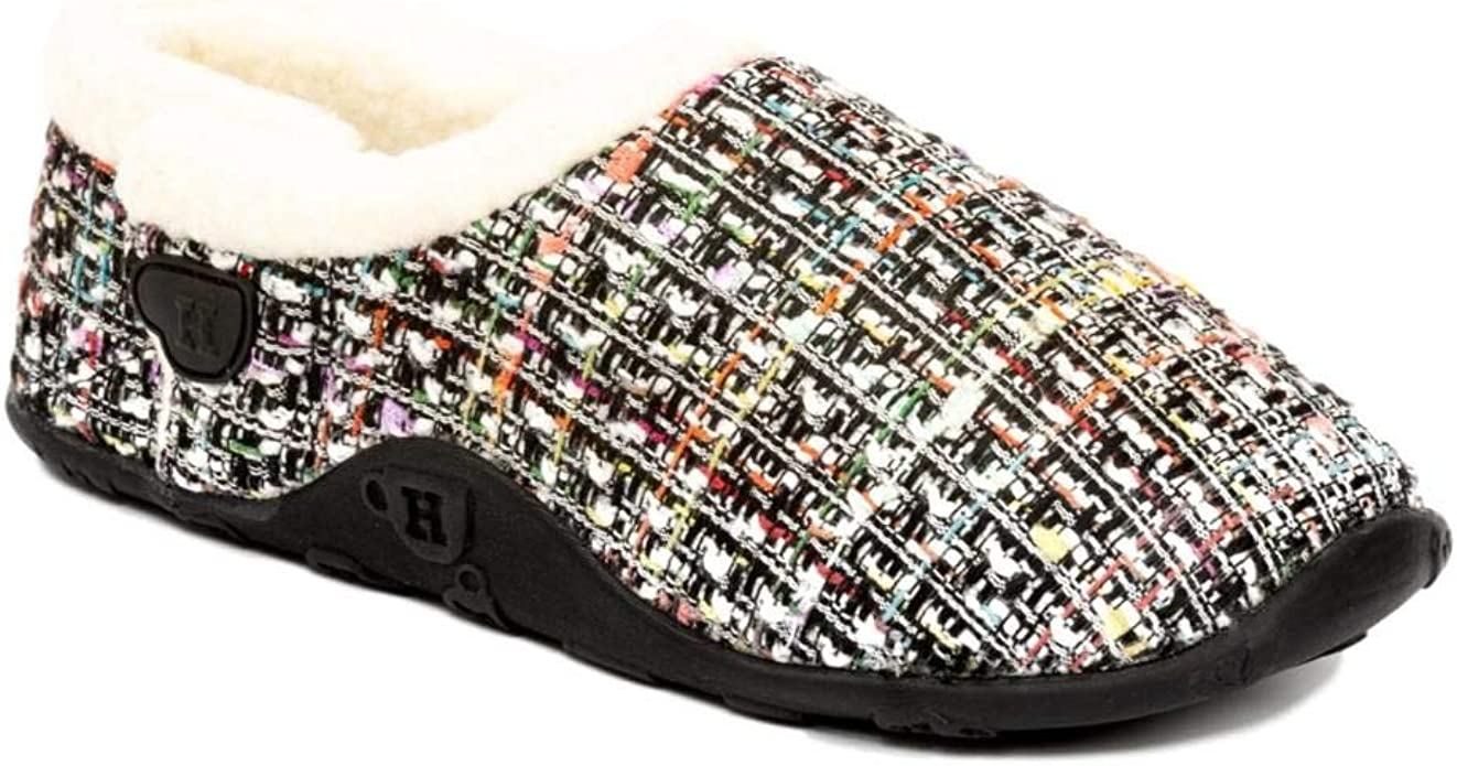 Homeys Coco Slippers - White/Pink/Black