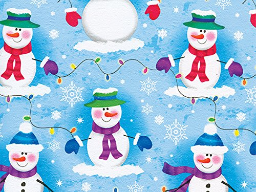 Pack of 1, Frosty Nights 26'' x 417' Half Ream Roll Gift Wrap for Holiday, Party, Kids' Birthday, Wedding & Special Occasion Packaging by Generic