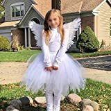 White Feather Angel Wings with Elastic Straps