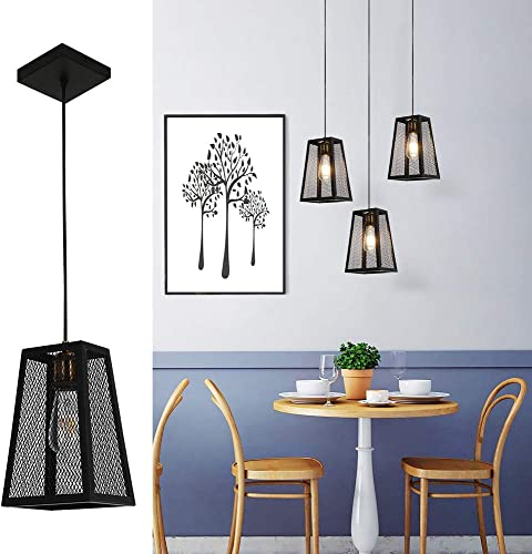 Vintage Pendant Lighting Retro Style Ceiling Light with Mesh Modern Design for Kitchen Island Industrial Lighting for Farmhouse,Cafe and Bar