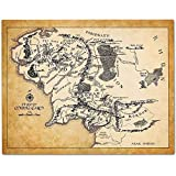 Map of Middle Earth - 11x14 Unframed Art Print - Great Gift for Lord of the Ring and Hobbit Fans