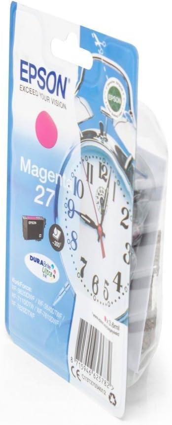 Original Epson C13t27044010 27 Tinte Magenta Für Epson Workforce Wf 3620 Dwf Bürobedarf Schreibwaren