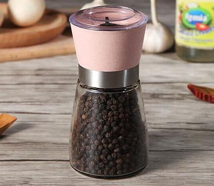 FJXLZ® Botella de vidrio de molienda Manual Inicio pimienta pimienta pimienta sésamo cocina condimento botellas