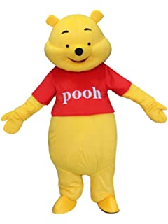 6f7b0eb3ea81 Winnie The Pooh Bear Adult Mascot Costume Cosplay Fancy Dress Outfit