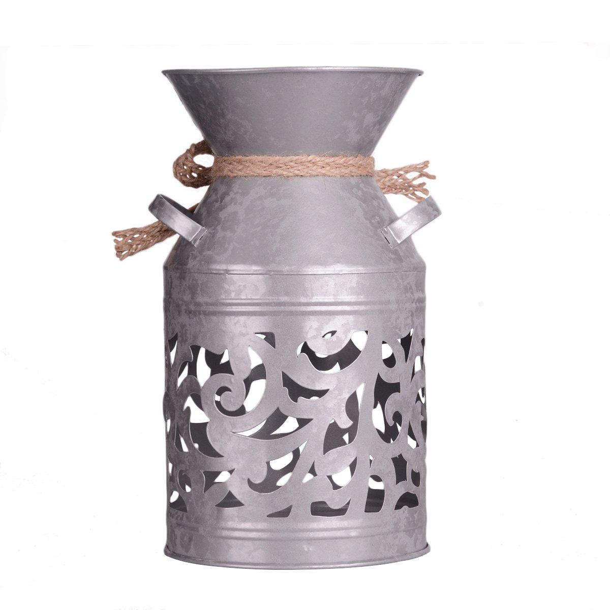meijiajuクリエイティブ鉄アートLEDランプコーヒーショップバーリビングルームベッドルーム夜間ライト装飾的暖かいハートギフト(電球を含む) GH123636 B078KT8SQP Milk Cans Light