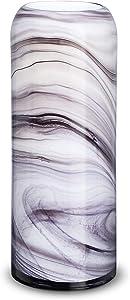 LUSUNT 12 Inch White Vase, Flowers Vase for Home Decor, Modern Decorative Vase for Living Room, Office, Bedroom, Kitchen, Vase for Dried Flowers and Decorative Branch Filler