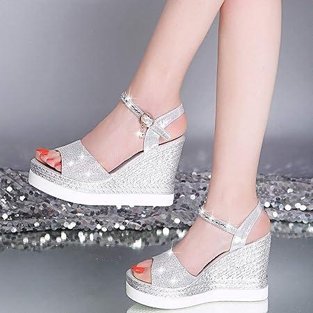 Sandalias Mujer Verano 2019 cuña Bohemias Casuales Zapatillas Hebilla Romanas Flip Flop Mares Playa Gladiador Verano Tacon Planas Zapatos riou