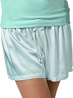 product image for PJ Harlow Women's Mikel Satin Boxer Short with Draw String - PJSB5 (Large, Aqua)