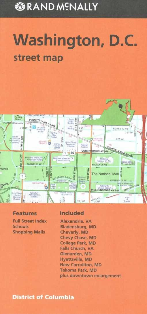 Read Online Rand Mcnally Washington D.C. Street Map (Red Cover) PDF