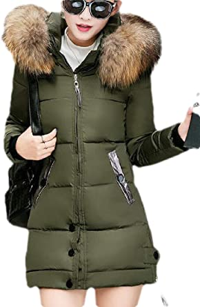GloryA Mens Faux Fur Collar Zip Solid Quilted Outerwear Parka Coat