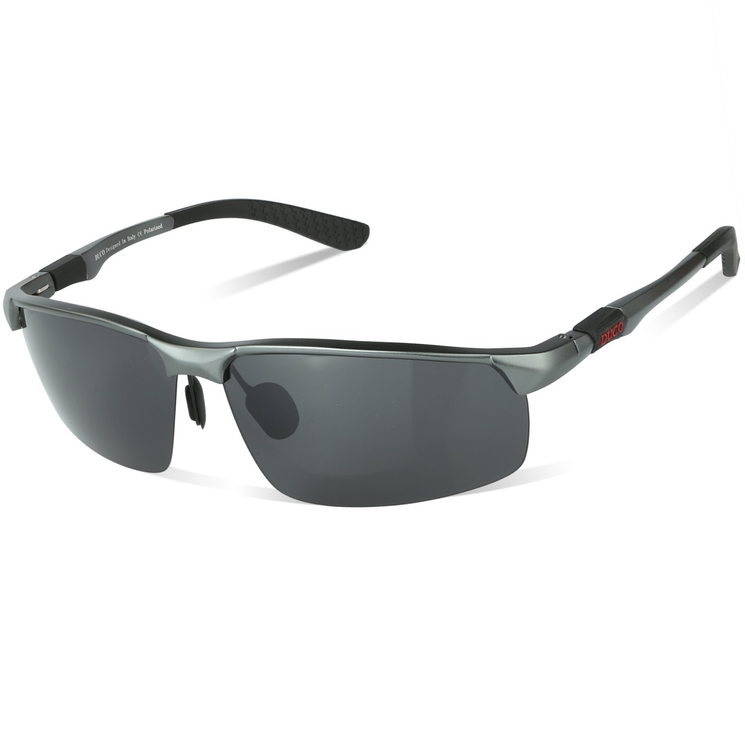 Duco Men's Fashion Driving Polarized Sunglasses Sports Eyewear Fishing Goggles with Al-Mg Frame 8188(Gunmetal Frame,Gray Lens) by DUCO