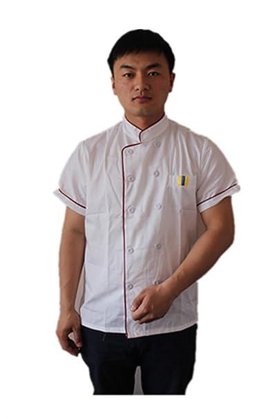 Short Sleeve Kitchen Cooker Working Uniform Chef Waiter Waitress Coat Jacket Chef Coats
