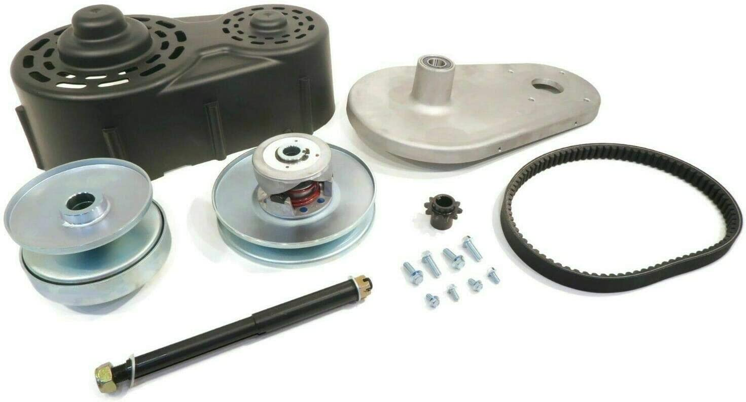 Belt /& Cover The ROP Shop 40 Series Torque Converter Kit with Backplate Clutch Pulleys