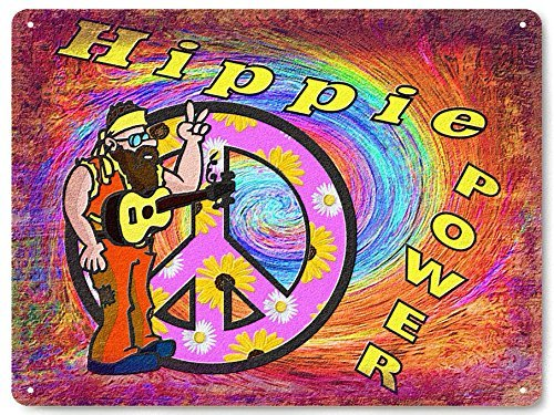 Yetta Quiller HIPPIE metal sign flower CHILD 's RETRO vintage style JIMI HENDRIX wall decor 30x40cm. art
