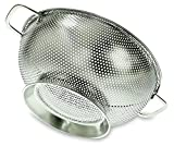 PriorityChef Colander, Stainless Steel 3 Qrt Kitchen Strainer With Large Stable Base