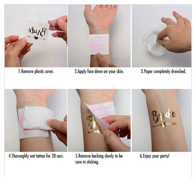 Tatuaje decorativo para novia, para despedida de soltera ...
