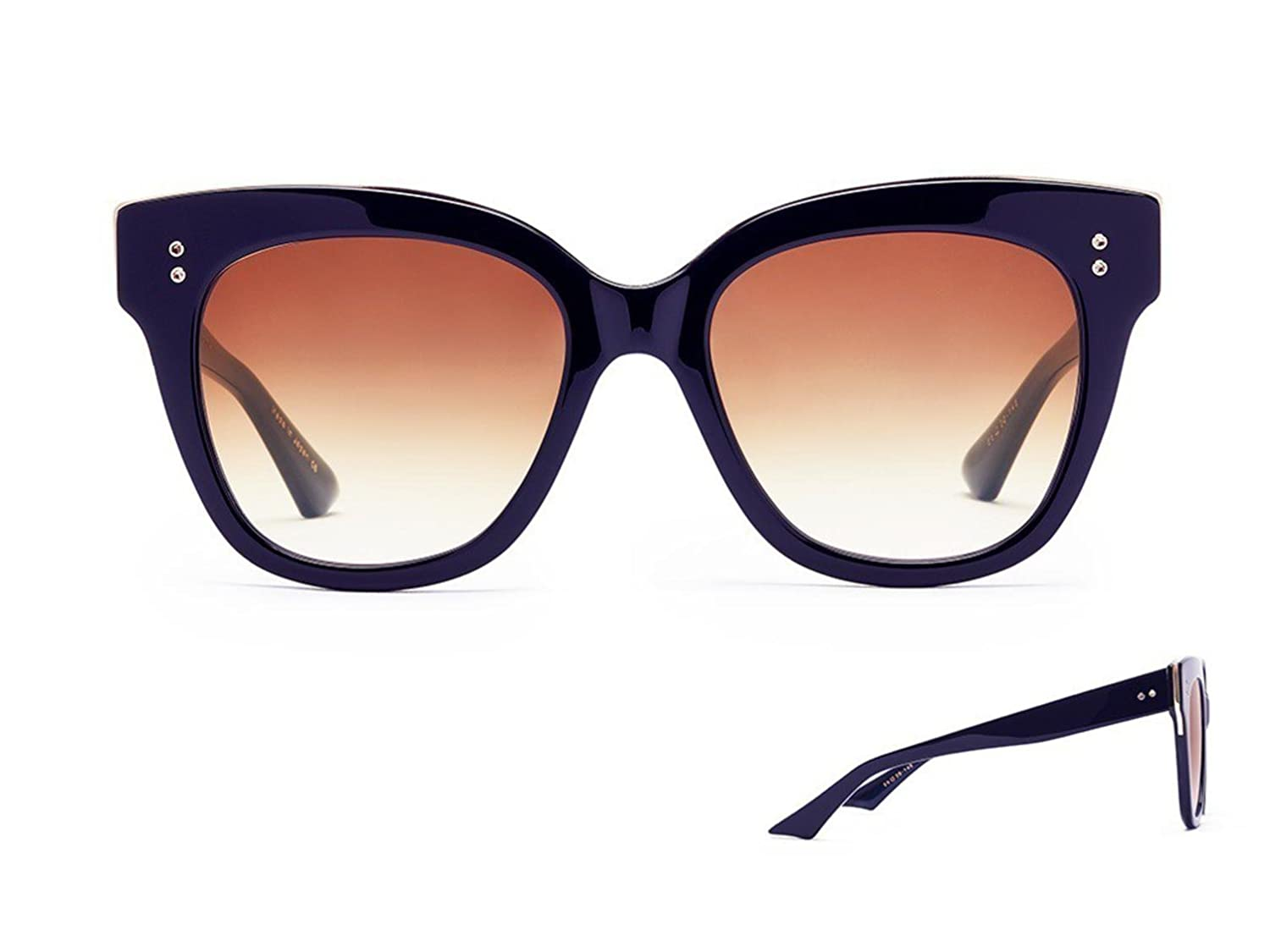 6624d077dd5 Sunglasses Dita DAY TRIPPER 22031 D-NVY-GLD NavyNavy Swirl-Gold w Dark  Brown to  Amazon.co.uk  Clothing