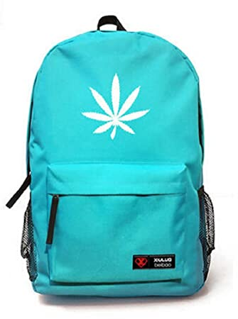YOYOSHome® Unisex Marijuana Weed Maple Leaf Cannabis Backpack School Shoulder Bag