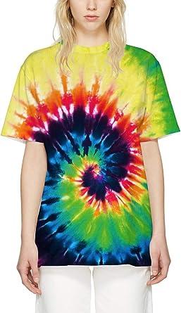 Leslady Camiseta Multicolor con Tinte Nudo T-Shirt Manga Corta para Verano Camisetas Casual Tees: Amazon.es: Ropa y accesorios
