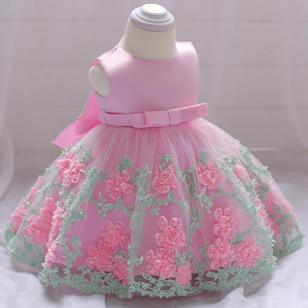6a596bc09281d DAY8 Vêtements Bébé Fille Naissance Été Robe Bébé Fille Cérémonie Princesse  Mariage Baptême Fête 0-18 Mois Chic Mode Costume de Jupe Tutu ...