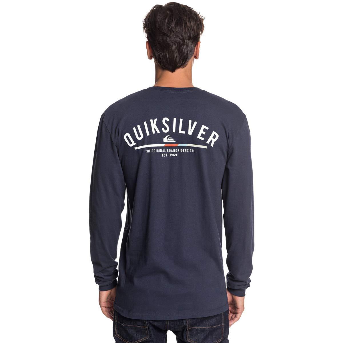 Quiksilver Masculino Simples Cor Camiseta Manga Longa-escolha ... 434516f17c