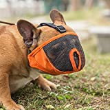 Dog Muzzles for Short Snout Dog, Breathable Mesh Dog Muzzle for Bulldog and Short-snouted Breeds to Anti-biting, Barking and Licking (XL, Orange)