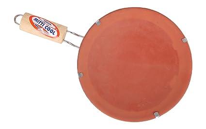 Mitticool Clay Tawa With Handle, 10