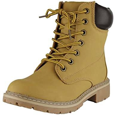 Women's Work Combat Military Mid Calf Lug Sole Boot