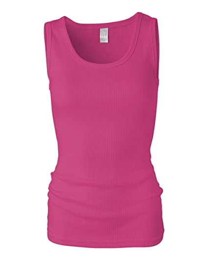 da669dfbbb1a9 Amazon.com  Anvil Womens 2x1 Rib Tank Top (2415)  Clothing