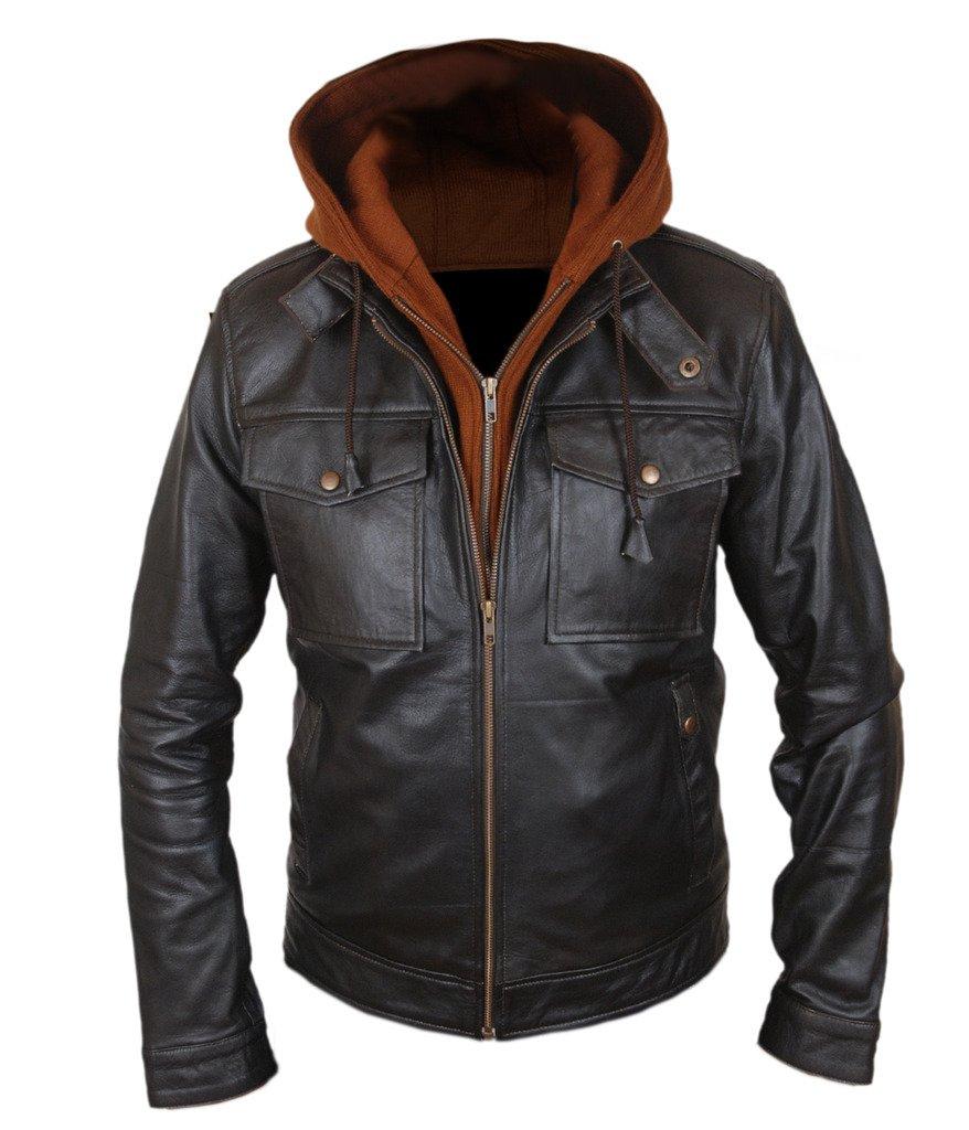 F&H Men's Captain America Bucky Barnes Civil War Removable Hood Jacket L Black by Flesh & Hide