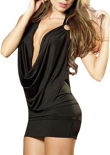 Cocktail Women/'s Bodycon Short See-through Club Dress Party Evening Mini Dress