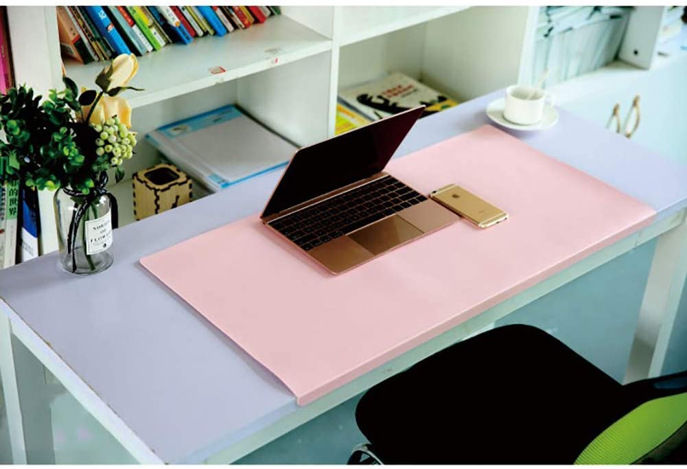 47x24inch F-LFJBK Multifunctional Office Desk Pad Protector,Large Not-Slip Mouse Pad Waterproof PU Leather Desk Writing Mouse Mat for Laptop Pc Keyboard-Green 120x60cm
