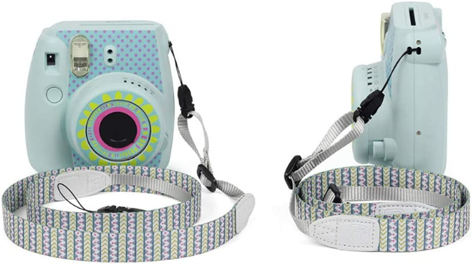 Ngaantyun Camera 1.2 Meter 47.2 inch Cute Neck Shoulder Strap Belt for Fujifilm Instax Camera Mini 9 Mini 8 Mini 25 Mini 70 Mini 90 Mini Liplay Green