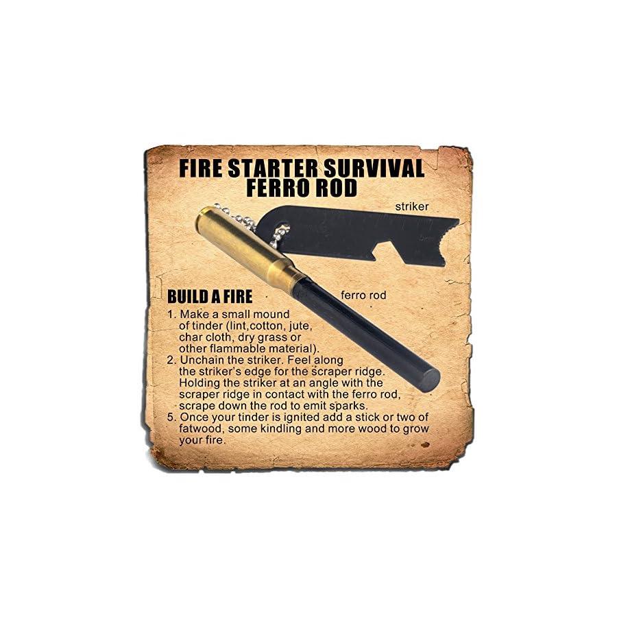 Ferrocerium Flint Fire Starter Survival Ferro Rod Made by Steve Kaeser Since 1989