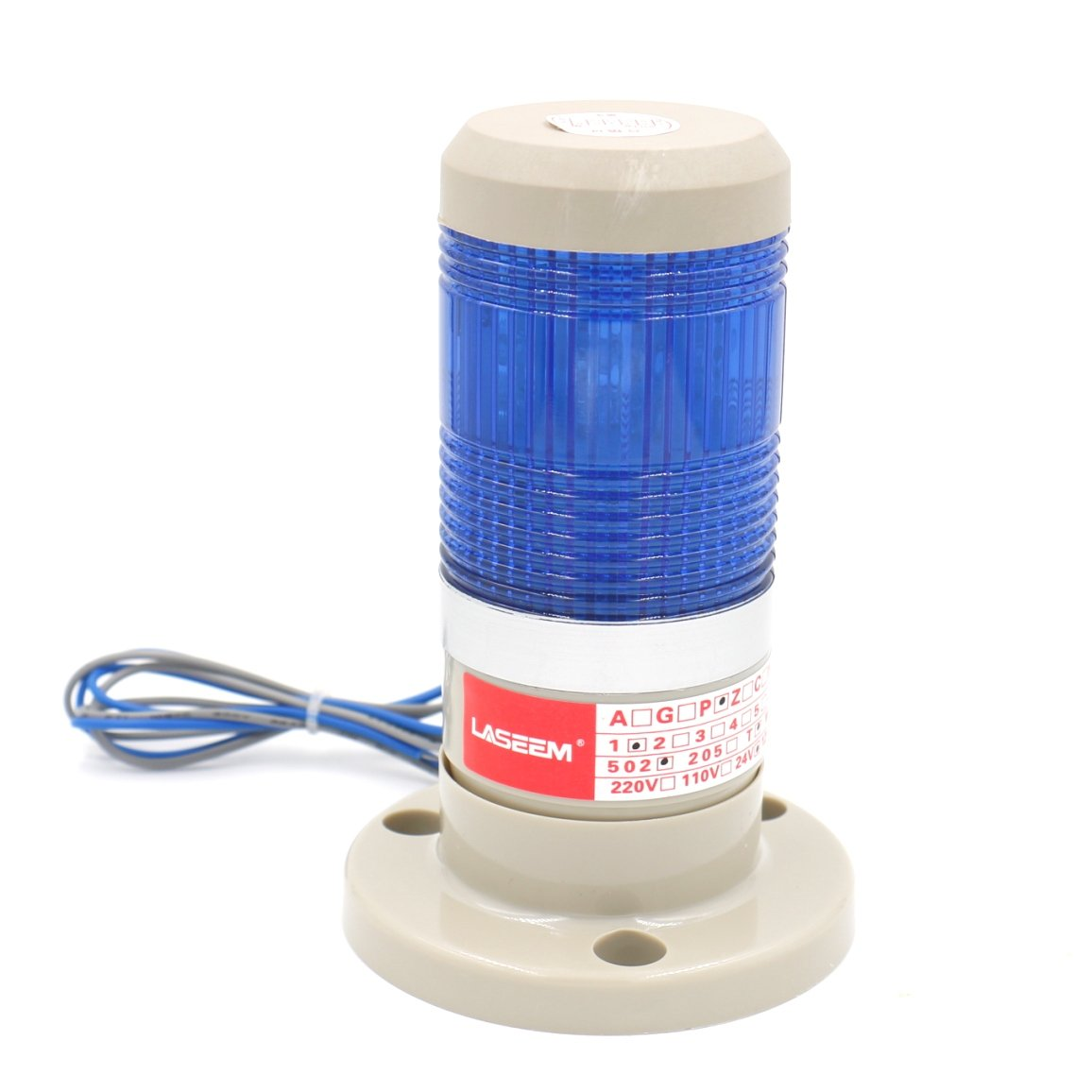 Baomain Warning Stack Light 110V AC Industrial Blue LED Signal Tower Lamp