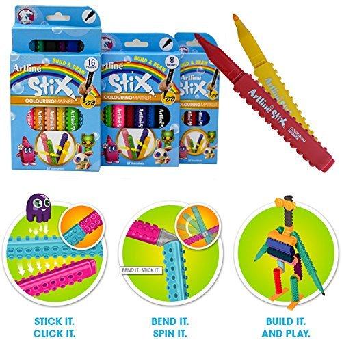 Art Line Qatar : Artline build draw stix colouring marker pens for lego