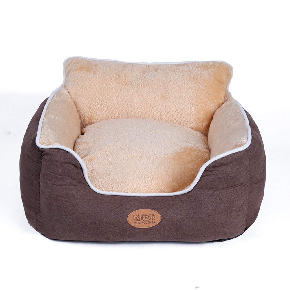 Brown M (55x58x20cm) Brown M (55x58x20cm) Detachable Pet Dog House Bed Cushion Cat Basket Dogs Sofa Beds Washable for Small Medium Extra Large Dogs