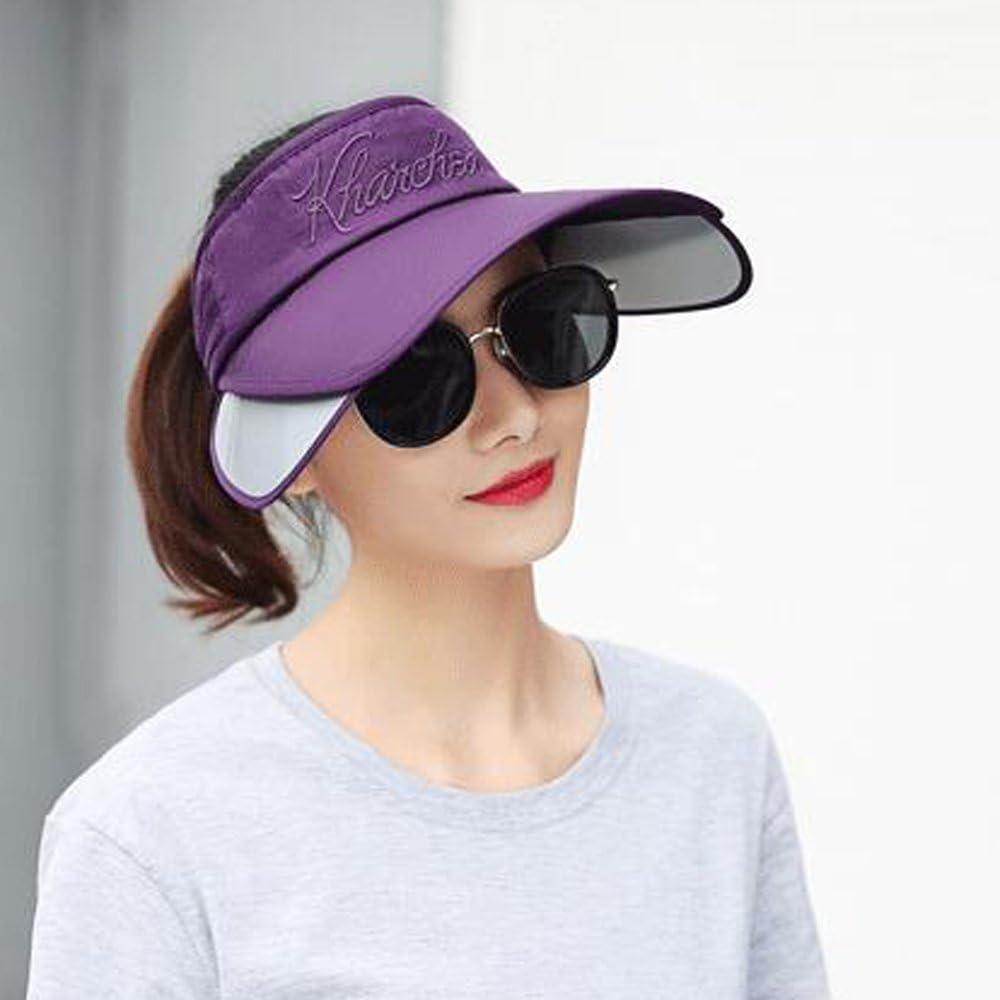 YEKEYI Sun Hat with Retractable Visor Wide Brim Sun Visor UV Protection Baseball Cap