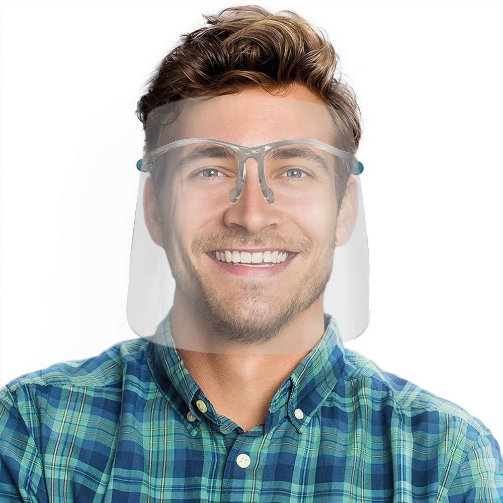 Gary Plastic Packaging Reusable Glasses with Bonus Shield Replacements Anti Splash & Fog Resistant