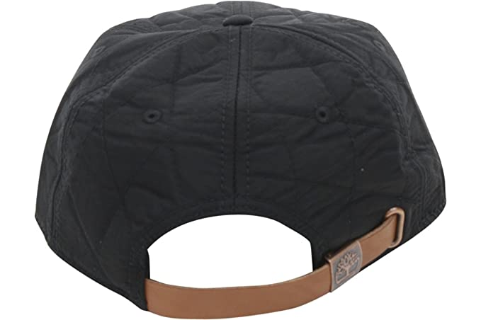 Timberland Quilted Nylon Flat Brim Leather Strapback Cap (One Size ... 059916087671