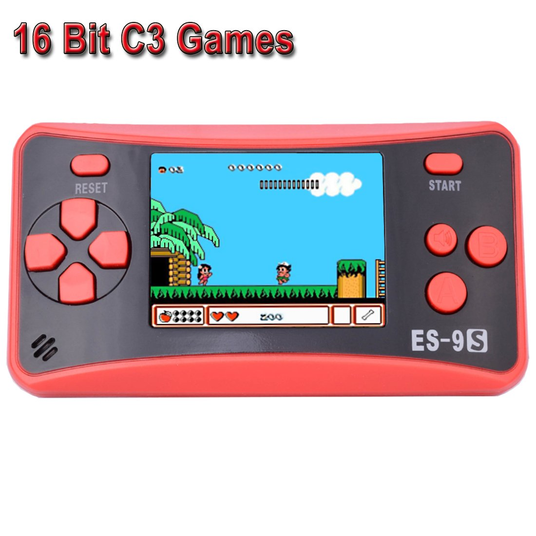 Retro Handheld Game Console for Kids Portable Game Player Mini Arcade Gaming System with Build in 16 Bit 168 Classic Video Old Style Games 2.5'' Color LCD Screen (Red+Black)
