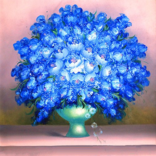 Framed Paint By Number Flowers No Mixing / No Blending Canvas DIY Painting - Classical Flowers