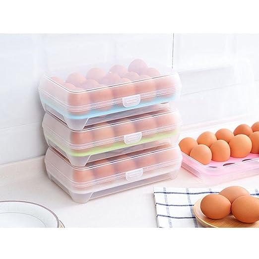 Leegoal Huevo Caja de almacenamiento, portátil de plástico, 15 ...