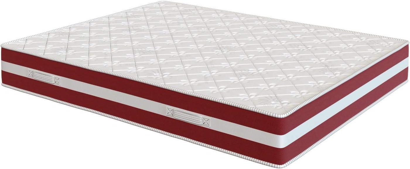 El Almacen del Colchon - Colchón viscoelastico Modelo Confort Life, 80 x 180 x 24cm - Todas Las Medidas, Blanco y Rojo