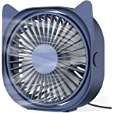 ZEBRE USB Desk Fan, Portable Small Personal Fan, 3 Speeds 360° Rotation Table Cooling Fan for Home Office Laptop Notebook PC
