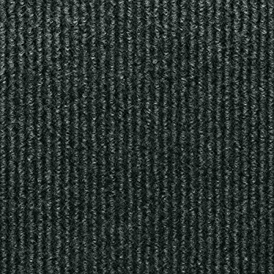 TrafficMaster Sisteron Black Ice Wide Wale 18 in. x 18 in. Indoor/Outdoor Carpet Tile (10 Tiles/ Case)